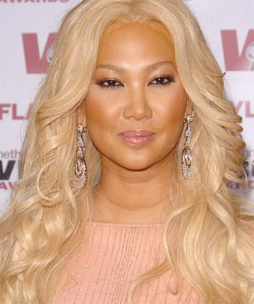 Kimora Lee Simmons Long Wavy Formal Hairstyle