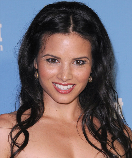 Katrina Law Long Wavy Casual Hairstyle - Black Hair Color