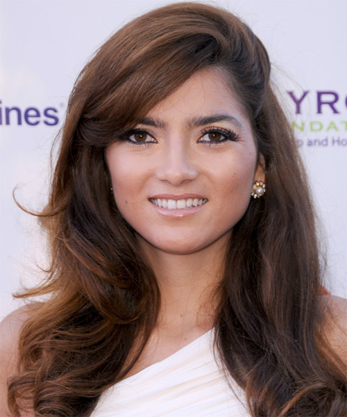 Blanca Blanco Long Straight Formal Hairstyle - Medium Brunette (Chestnut) Hair Color