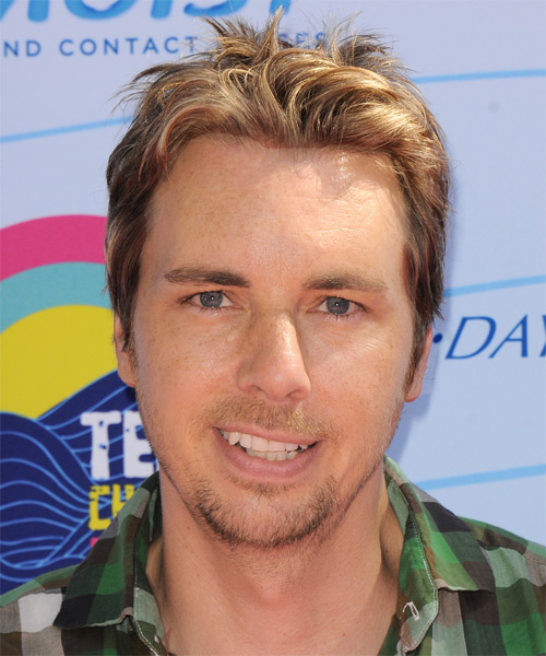 Dax Shepard Short Straight Hairstyle - Dark Blonde (Golden)