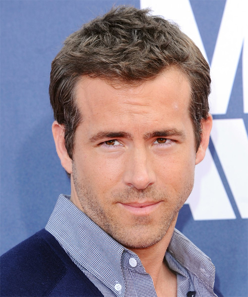 Ryan Reynolds Short Straight Hairstyle - Light Brunette (Ash)