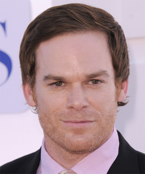 Micheal C Hall Short Straight Formal Hairstyle - Light Brunette (Chocolate) Hair Color