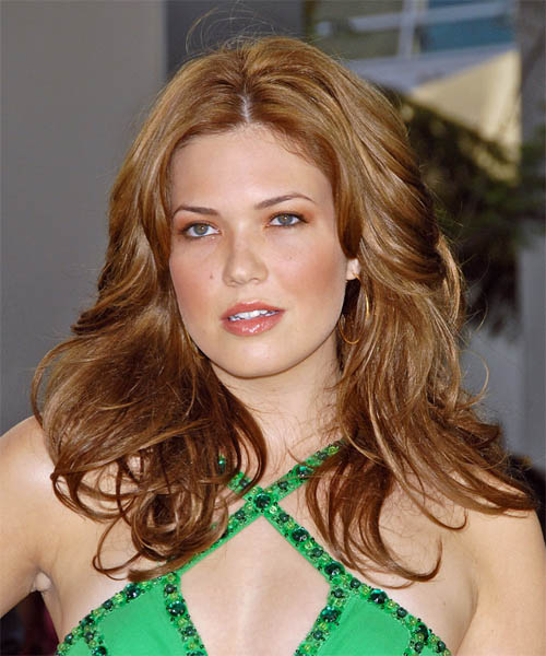 Mandy Moore Long Wavy Formal Hairstyle