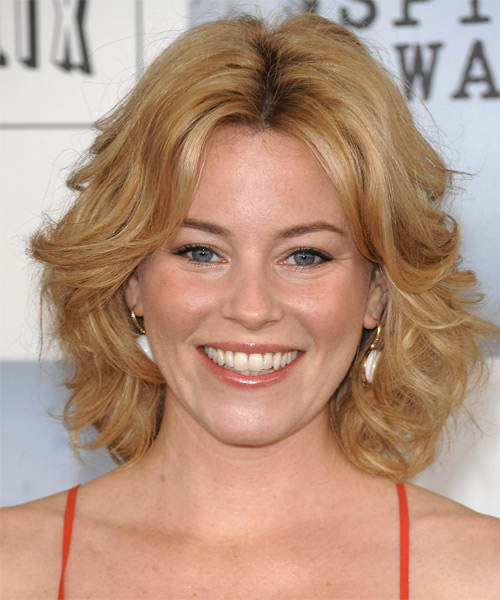Elizabeth Banks Medium Wavy Casual