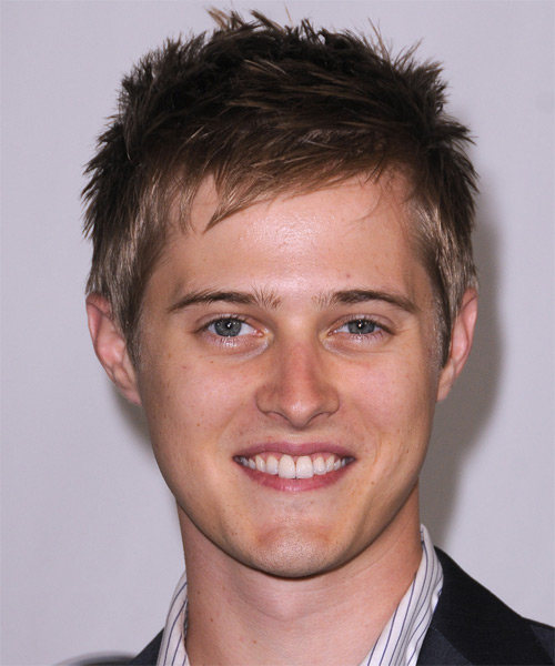 Lucas Grabeel Short Straight Hairstyle - Dark Brunette (Chestnut)