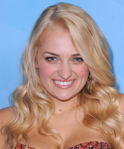 Ali Stroker Long Wavy Casual Hairstyle - Light Blonde (Honey) Hair Color