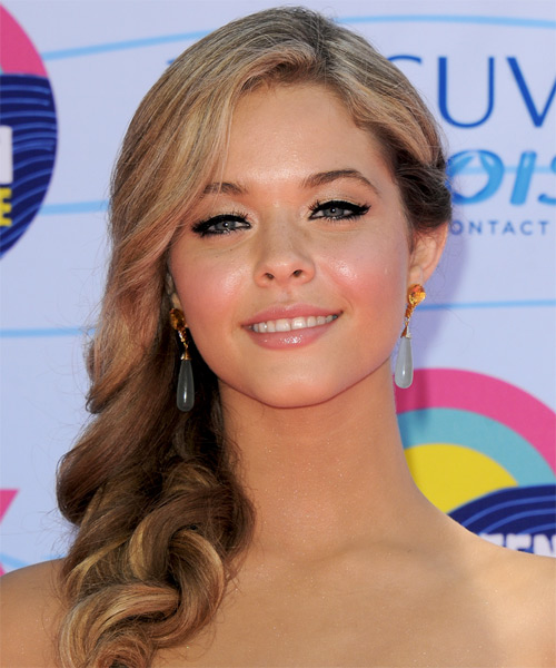 Sasha Pieterse Long Wavy Hairstyle - Dark Blonde (Ash)