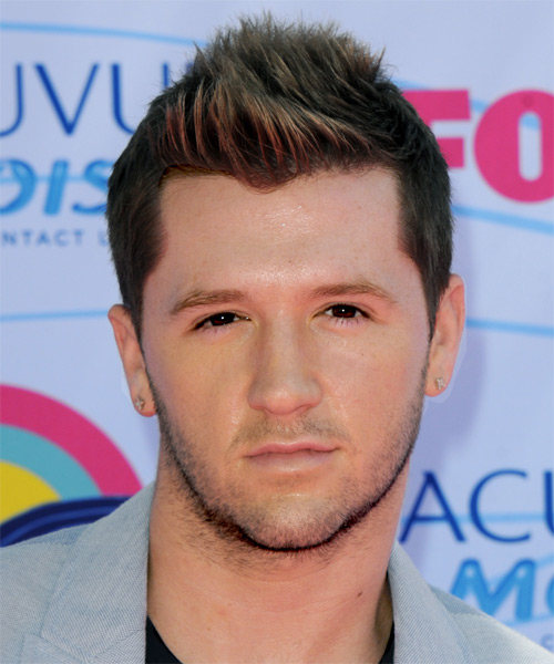 Travis Wall Short Straight Casual Hairstyle - Dark Brunette (Chocolate) Hair Color