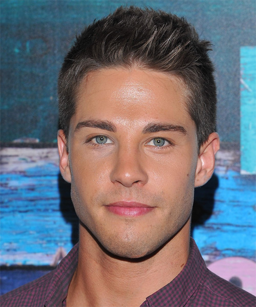 Dean Geyer Short Straight Hairstyle - Dark Brunette (Chocolate)