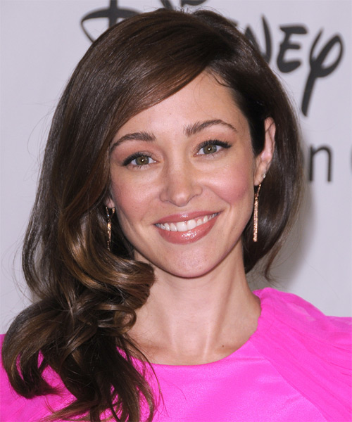 Autumn Reeser Long Wavy Hairstyle - Dark Brunette (Chocolate)