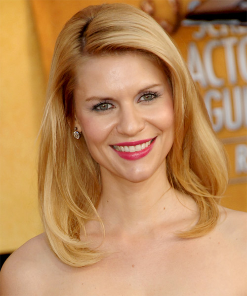Claire Danes Medium Straight Formal Hairstyle - Medium Blonde (Honey) Hair Color