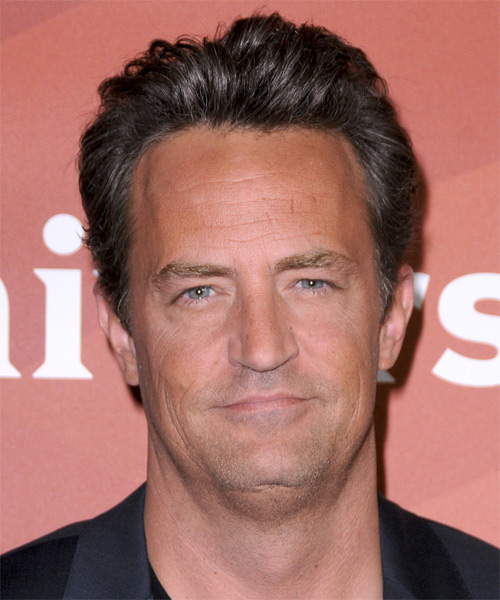 Matthew Perry Short Straight Casual Hairstyle - Dark Brunette Hair Color