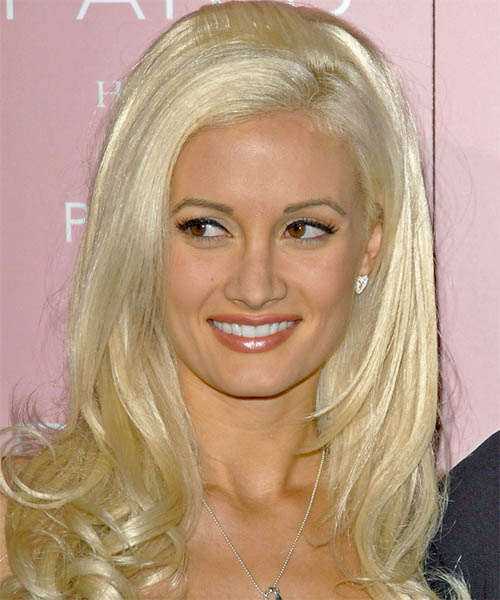 Holly Madison Long Straight Formal Hairstyle