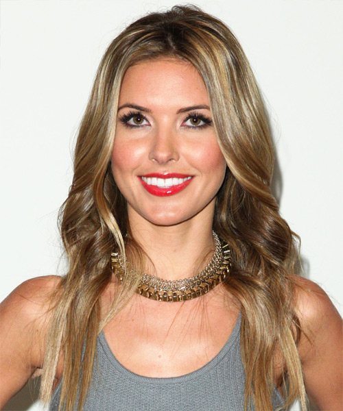 Audrina Patridge Long Wavy Casual Hairstyle - Medium Blonde Hair Color