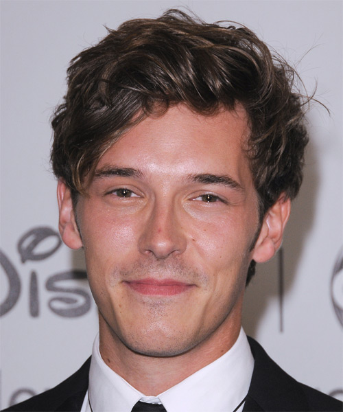 Sam Palladio Short Wavy Casual Hairstyle - Medium Brunette (Ash) Hair Color