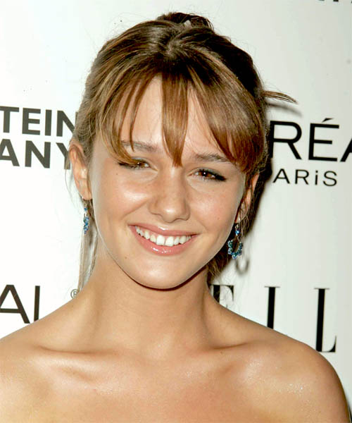 Addison Timlin - Formal Updo Medium Straight Hairstyle