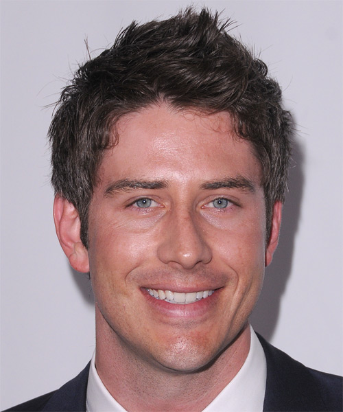 Arie Luyendyk Jr Short Straight Hairstyle - Medium Brunette (Chocolate)