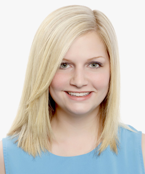 Medium Straight Formal Hairstyle - Light Blonde (Champagne)