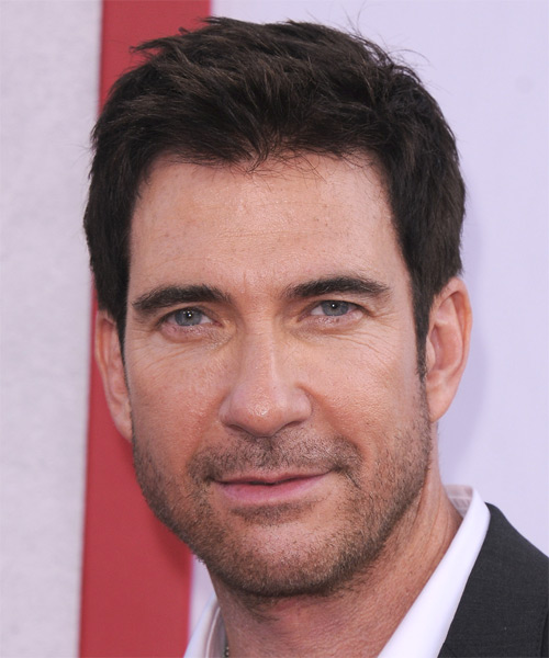 Dylan McDermott Short Straight Casual Hairstyle - Dark Brunette Hair Color