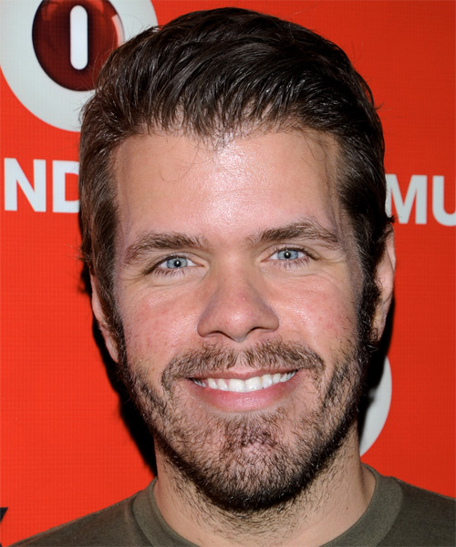Perez Hilton Short Straight Hairstyle - Medium Brunette (Ash)