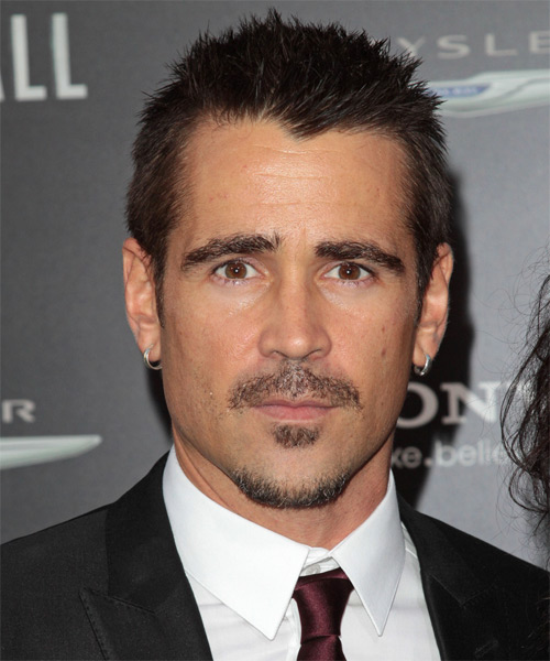 Colin Farrell Short Straight Casual Hairstyle - Dark Brunette Hair Color