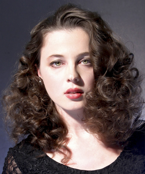 Medium Curly Formal  - Medium Brunette