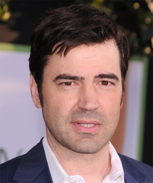 Ron Livingston Short Straight Hairstyle - Dark Brunette