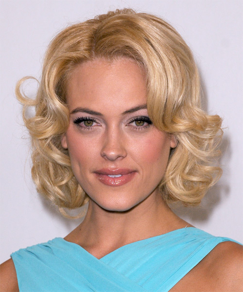 Peta Murgatroyd Medium Wavy Hairstyle - Medium Blonde (Golden)