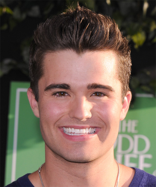 Spencer Boldman Short Straight Hairstyle - Medium Brunette (Auburn)