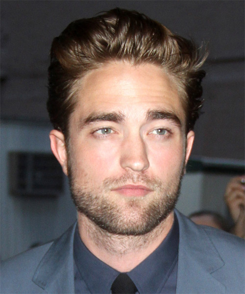 Robert Pattinson Short Straight Casual Hairstyle - Medium Brunette (Ash) Hair Color
