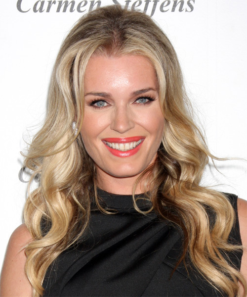 Rebecca Romijn Long Wavy Casual Hairstyle - Dark Blonde Hair Color