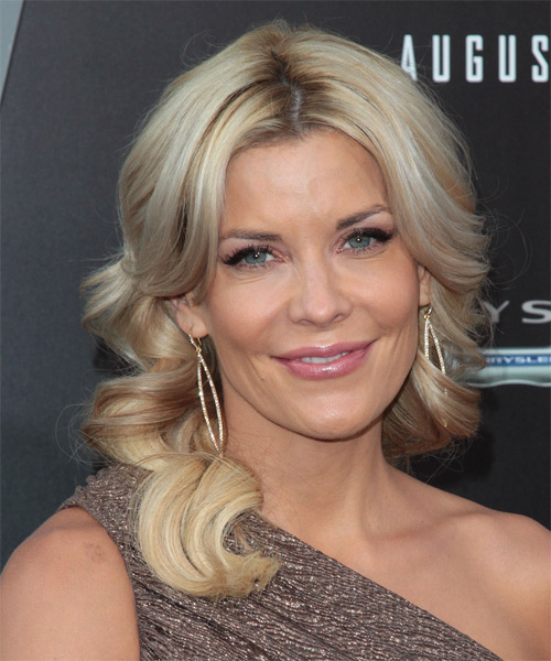 McKenzie Westmore Long Wavy Formal Hairstyle - Medium Blonde Hair Color