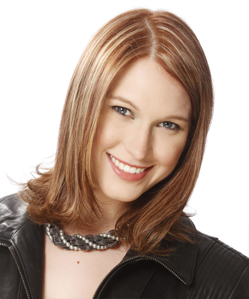 Medium Straight Formal Hairstyle - Medium Brunette (Golden)