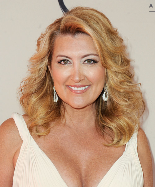 Wendy Burch Medium Wavy Hairstyle - Medium Blonde (Golden)
