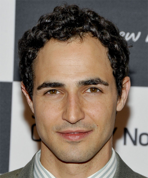Zac Posen Short Curly Casual Hairstyle - Dark Brunette