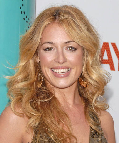Cat Deeley Long Wavy Formal Hairstyle