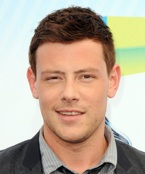 Corey Monteith Short Straight Hairstyle - Medium Brunette (Copper)