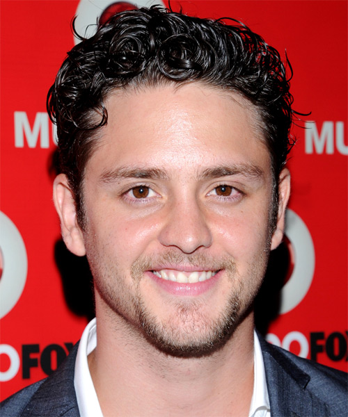 Christopher Von Uckermann Short Curly Hairstyle - Black