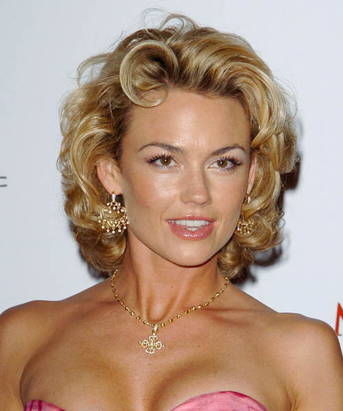 Kelly Carlson Medium Curly Formal Hairstyle