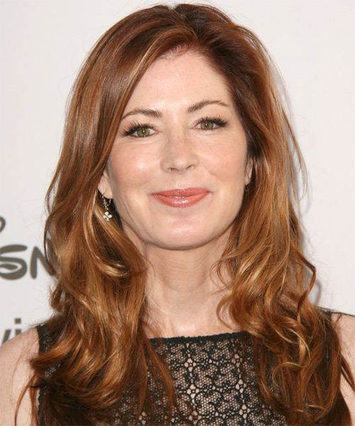 Dana Delaney Long Wavy Hairstyle - Medium Brunette (Copper)