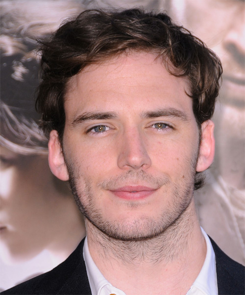 Sam Claflin Short Wavy Hairstyle - Dark Brunette