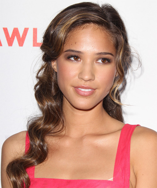 Kelsey Chow Long Wavy Hairstyle - Medium Brunette (Chocolate)