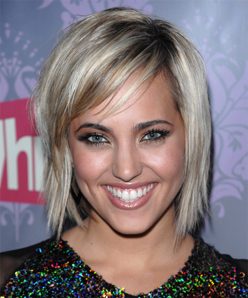Kherington Payne Medium Straight Hairstyle - Light Blonde (Ash)