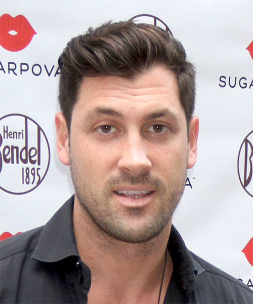 Maksim Chmerkovskiy Short Straight Formal Hairstyle - Medium Brunette Hair Color