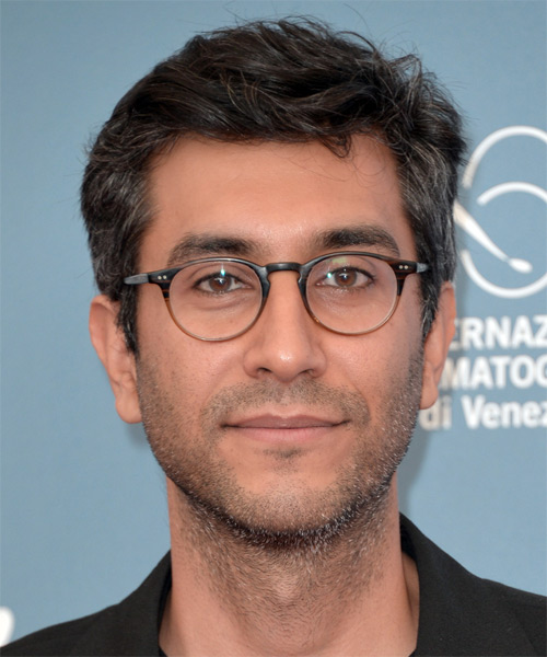 Ramin Bahrani Short Straight Hairstyle - Dark Grey