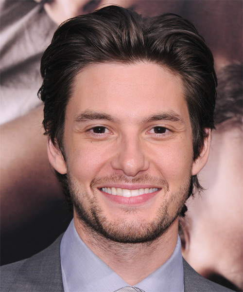 Ben Barnes Short Straight Hairstyle - Dark Brunette (Mocha)