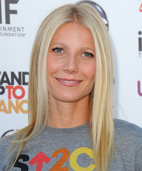 Gwyneth Paltrow Long Straight Casual  - Light Blonde