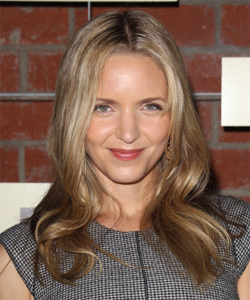 Jordana Spiro Long Straight Casual Hairstyle - Dark Blonde Hair Color