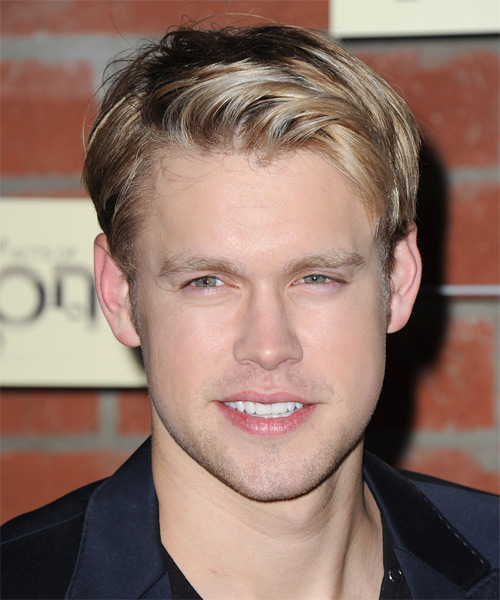 Chord Overstreet Short Straight Formal Hairstyle - Light Blonde (Strawberry) Hair Color