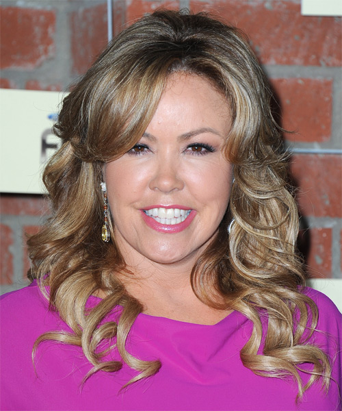Mary Murphy Long Wavy Formal Hairstyle - Dark Blonde Hair Color
